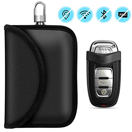 Funkschl/üssel Abschirmung Schl/üsseltasche Auto Blocker Anti-Hacking Faraday Case-2 stk RFID Keyless Go Schutz Autoschl/üssel Schutz Keyless H/ülle