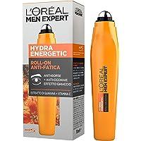 L'Oréal Paris Men Expert Roll-On Occhi Anti-Borse e Anti-Occhiaie Hydra Energetic, con Estratto di Guaranà e Vitamina C - 10 ml
