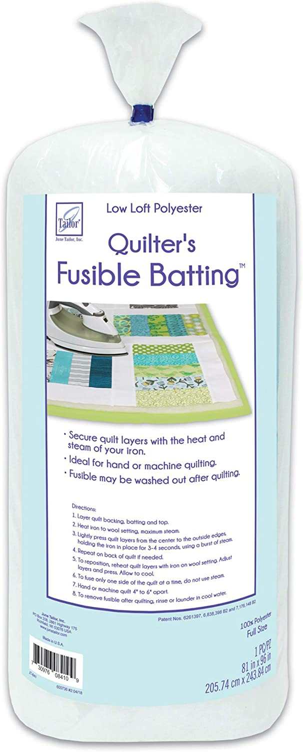 90 x 108-Inch//Queen June Tailor Quilt Low Loft Fusible Batting