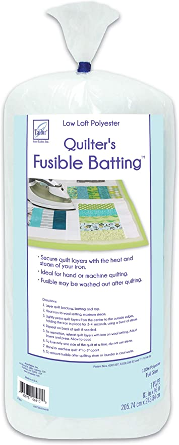 Polyester Queen Size 90 x 108 Inch June Tailor Fusible Quilt Batting