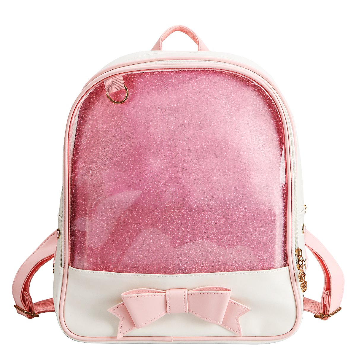 xhorizon FL1 Girl's Bowknot Transparent Backpack Large Schoolbag Travel Daypack