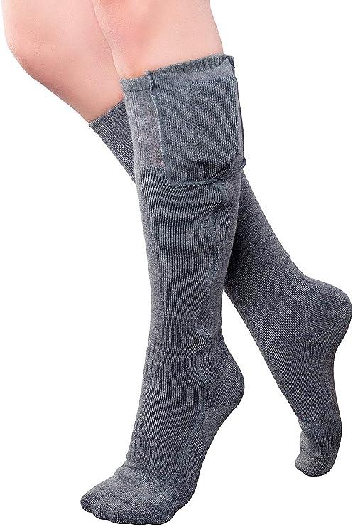 Beheizbare Socken Strümpfe Elektrisch Heizsocken Sockenwärmer Thermosocken F2F3