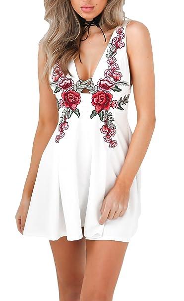 Vestidos cortos de bordados