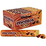 Mentos Choco Roll Caramel, Indulgent Caramel with Chocolate Filling, 12 x 38g