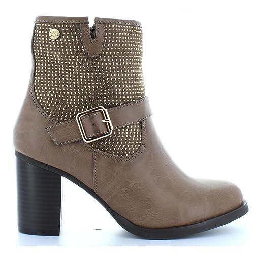 Botines de Mujer XTI 28410 Combinado Taupe Talla 40: Amazon.es: Zapatos y complementos
