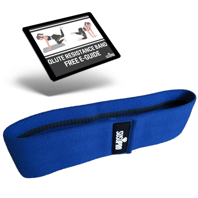 Bandas de ejercicio de cadera para tonificar la cadera Bandas de tela antideslizantes para fuerza de piernas y gl/úteos Gu/ía gratuita en l/ínea de entrenamiento de gl/úteos Bandas de resistencia de cadera