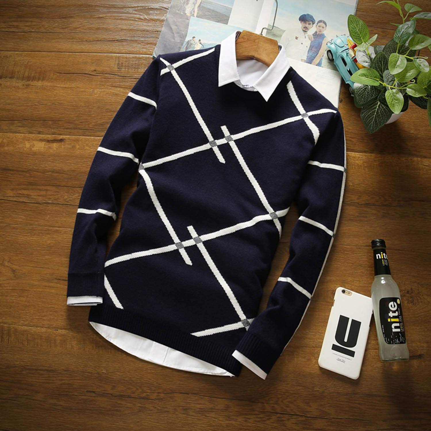Sweater Mens Cashmere Wool Pullover Christmas Sweater Men Knitted Sweater MY6612