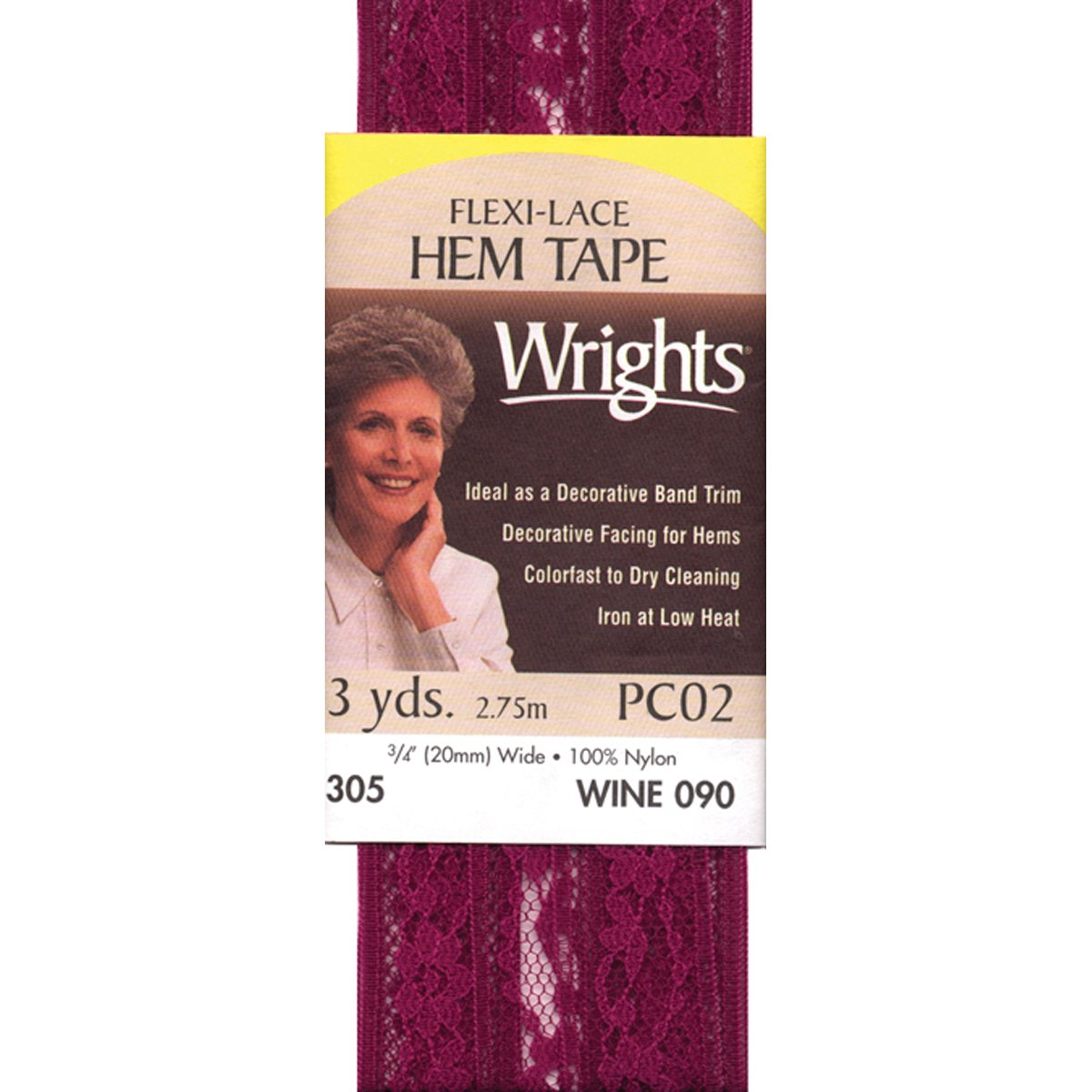 3-Yard Orchid Wrights 117-305-059 Flexi Lace Hem Tape