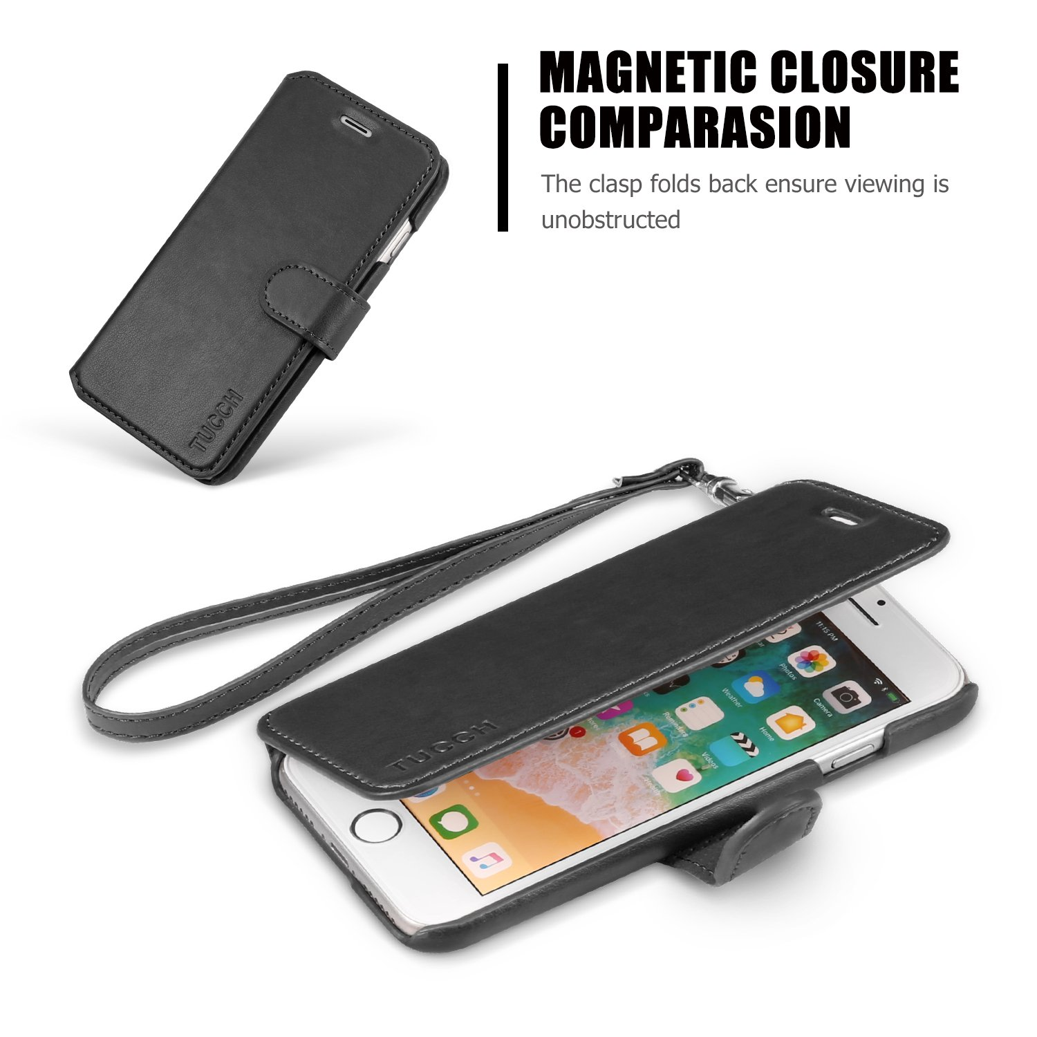 Xs Flip-case Black Case Self-Conscious Artificial Leather Case For Apple Iphone X