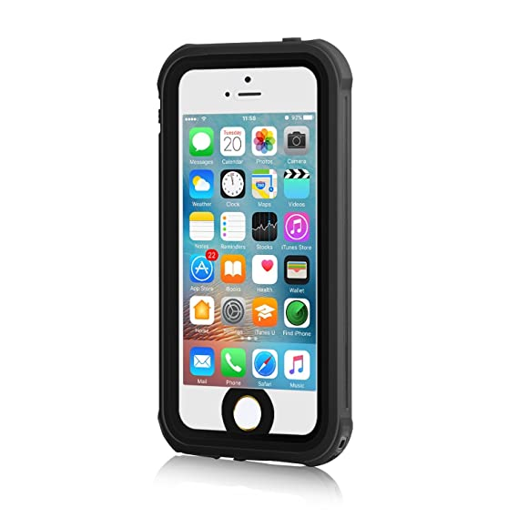 quality design 04127 0cd08 iPhone 5S Waterproof Case, Meritcase IP68 iPhone SE/5S/5 Waterproof  Shockproof Dirtproof Snowproof Screen Protector Cover for Snow Skiing  Swimming ...
