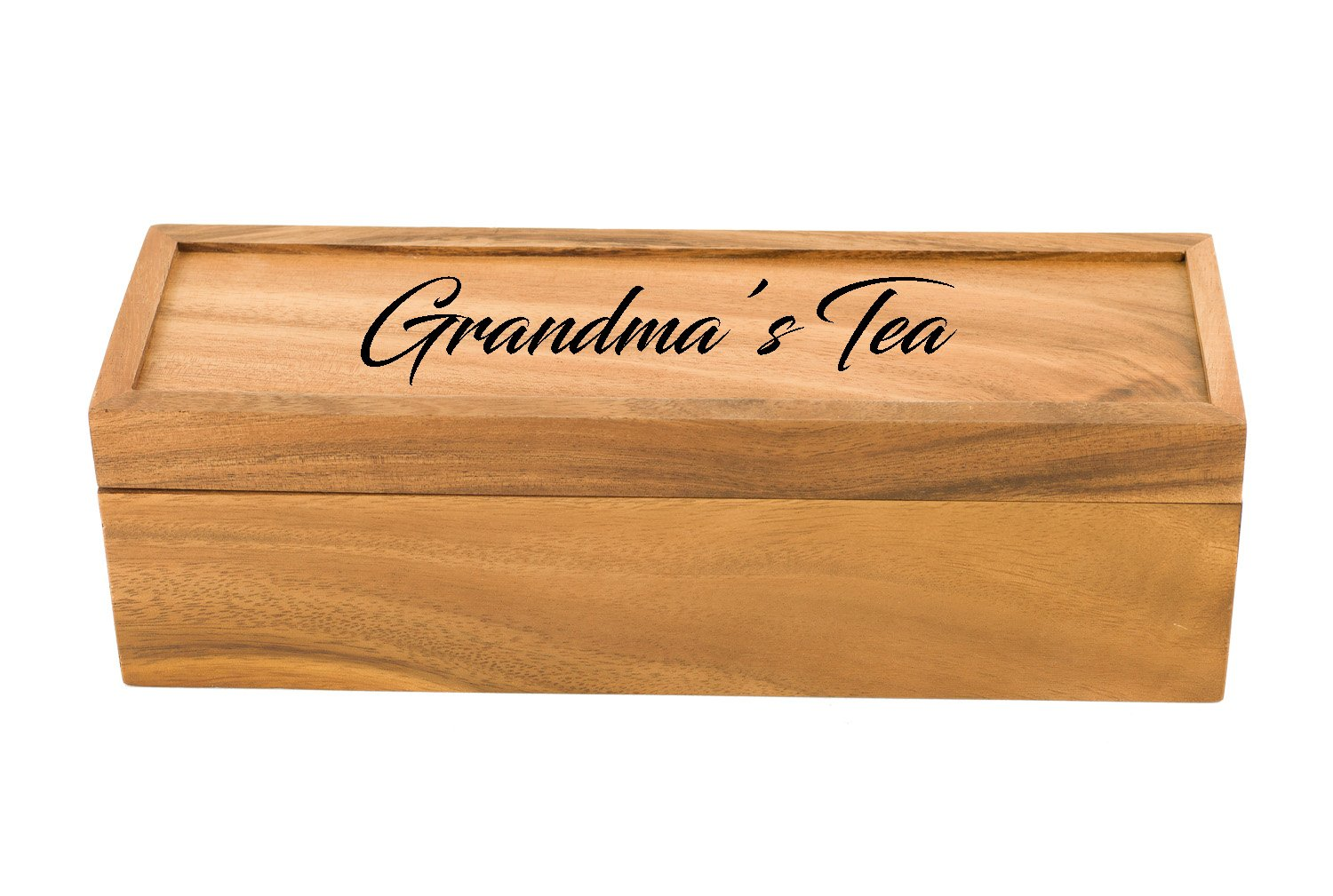 Personalized Tea Box | Tea Storage Chest (Small (4-Section)) by Sofia's Findings