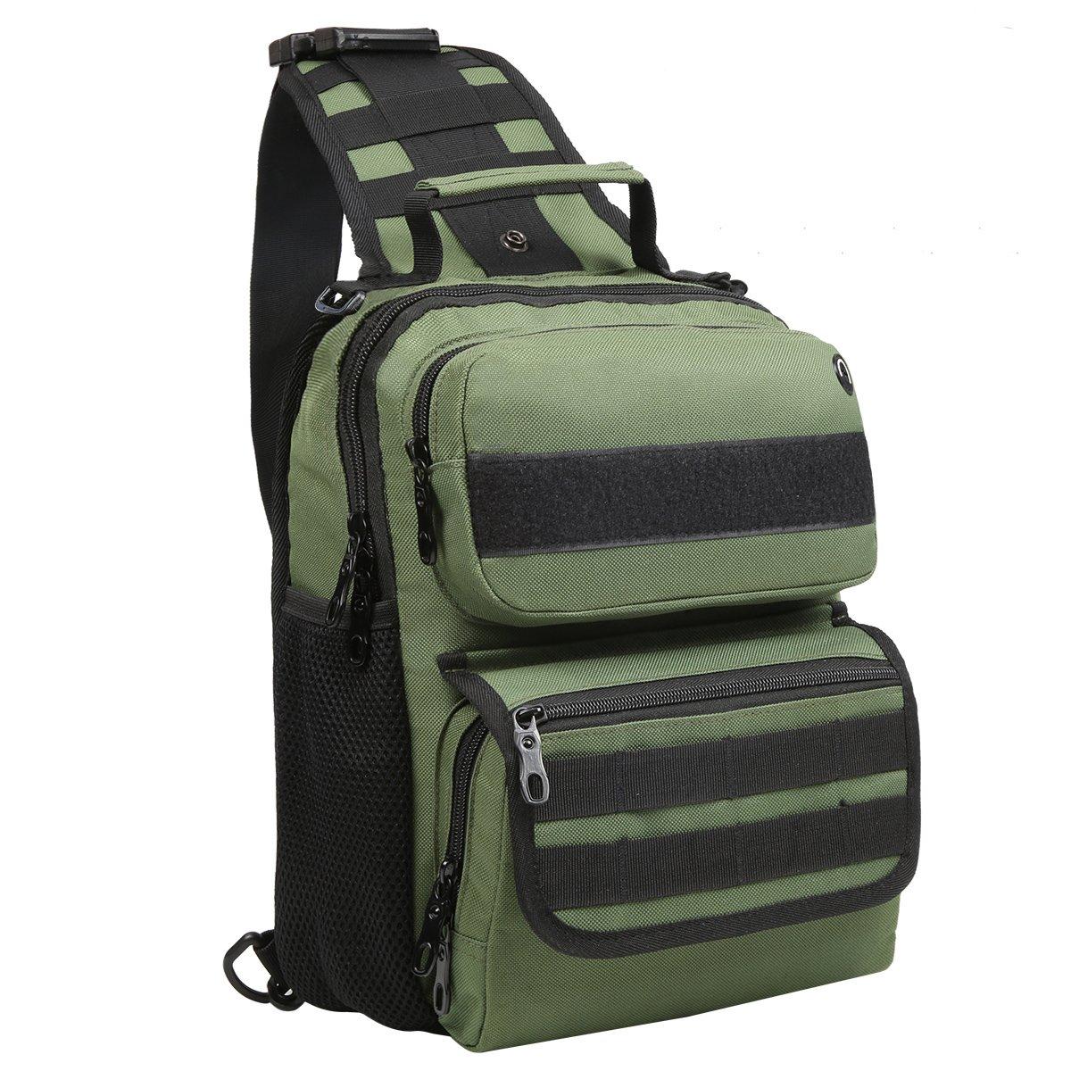 Bekahizar Tactical Sling Bag Military Shoulder Pack Outdoor Molle Chest Backpack