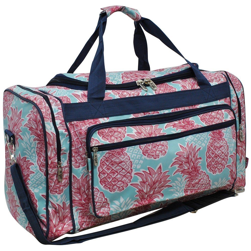 Southern Summer Pineapple NGIL Canvas Carry on Shoulder 23'' Duffle Bag
