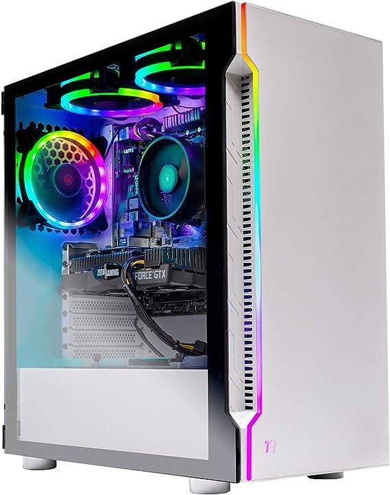 Skytech Archangel Gaming Computer PC Desktop – RYZEN 5 2600 6-Core 3.4 GHz
