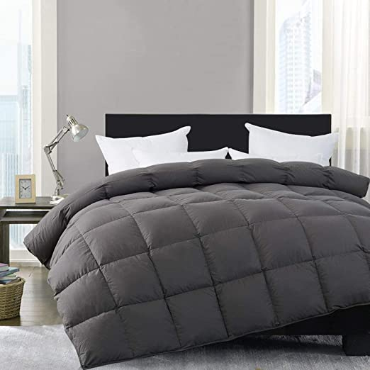 Amazon.com: HOMBYS Luxury Gray Real California King Down Comforter