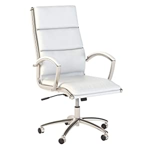 Office by kathy ireland Echo High Back Leather Executive Chair in White