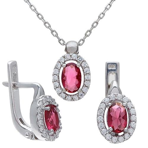 f58547840ea0 Citerna Juego de joyas de Metal Bañado en Plata  Amazon.es  Joyería