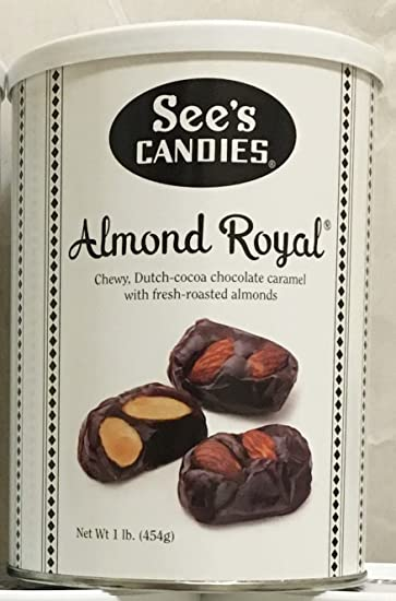 amazon com see s candies 1 lb almond royal r chocolate
