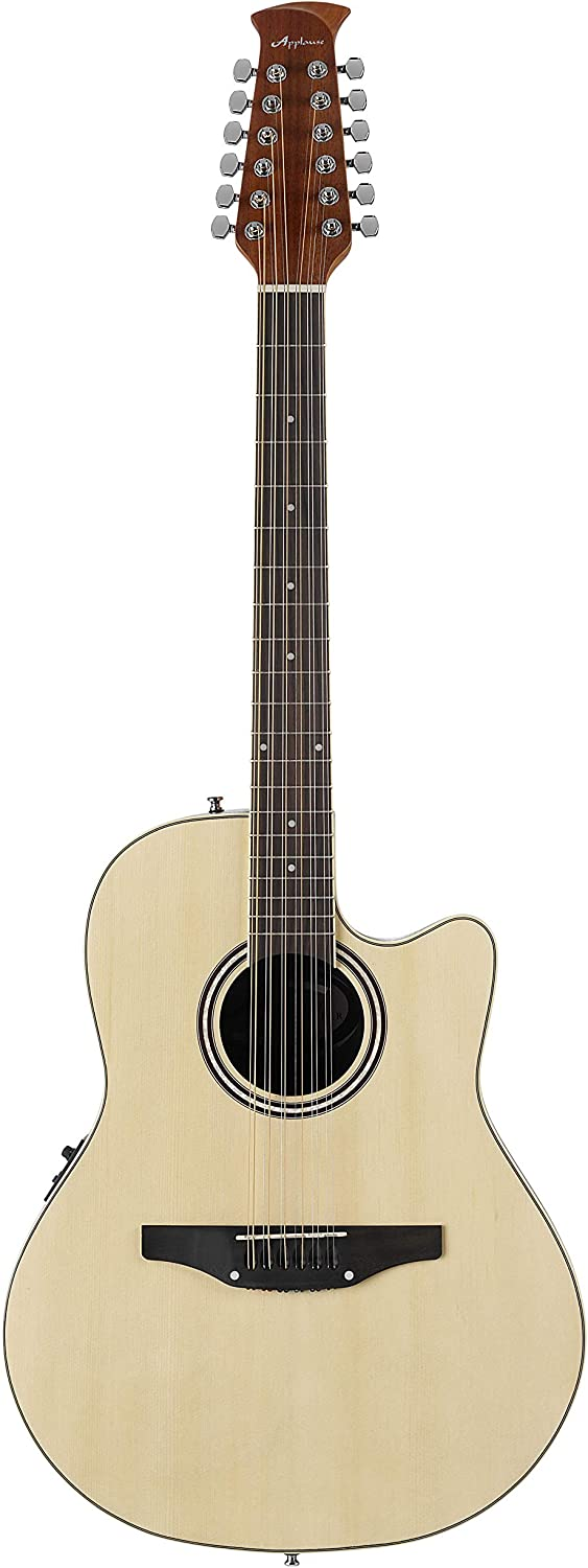 Ovation Applause Guitarra Electro-Acústica Mid Cutaway natural AB2412II-4, 12 string