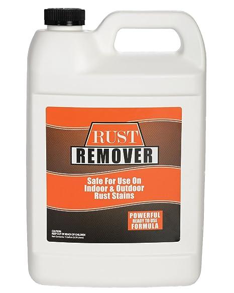 Óxido y quitamanchas hierro, spray y enjuagar - 1 Gallon (128 ...