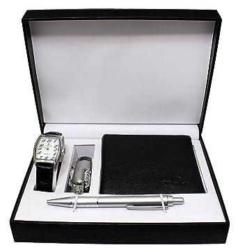 Coffret Montre Homme Cuir + Portefeuille + Stylo + Couteau Multifonctions  Coffret Cadeau 7ed97b08616
