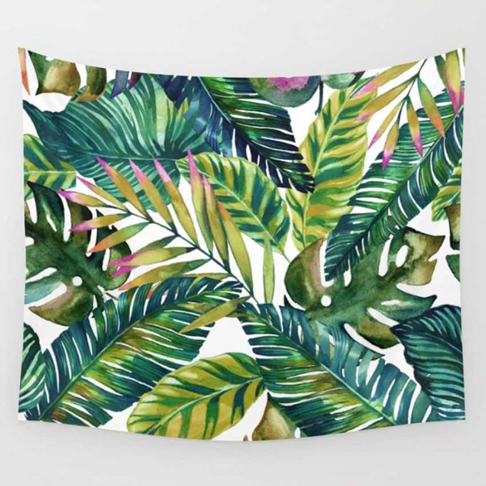 Shukqueen Fresh Banana Leaf Printed Wall Art Hanging Tapestry Dorm Decor Banana Leaf1 (51