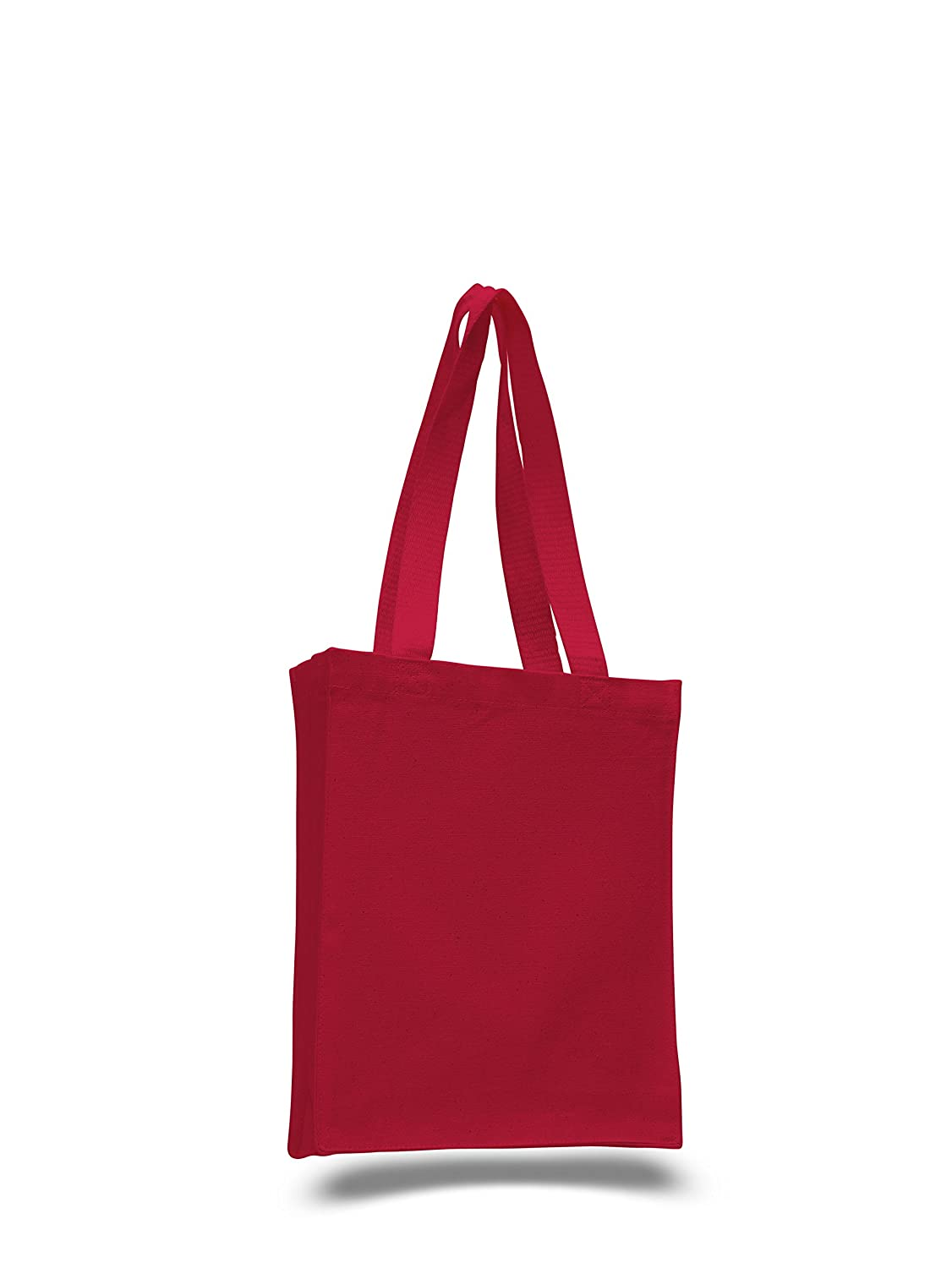 f69e1964a67359 Amazon.com: Heavy Duty Canvas Tote Bag, Perfect for Ipad, Books, Bible Set  of 6 (Red): ToteBagFactory