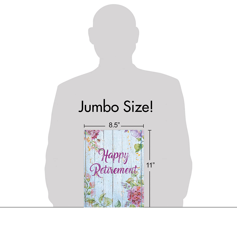 Amazon Jumbo 85 X 11 Happy Retirement Greeting Card