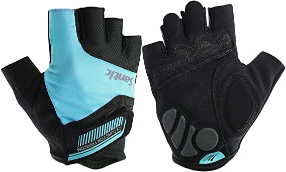 HuwaiH Cycling Gloves Red X-Large Padding Stretchable Fingerless New Lightweight
