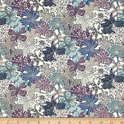 Liberty of London Tana Lawn Mauvey Blue Fabric By The Yard