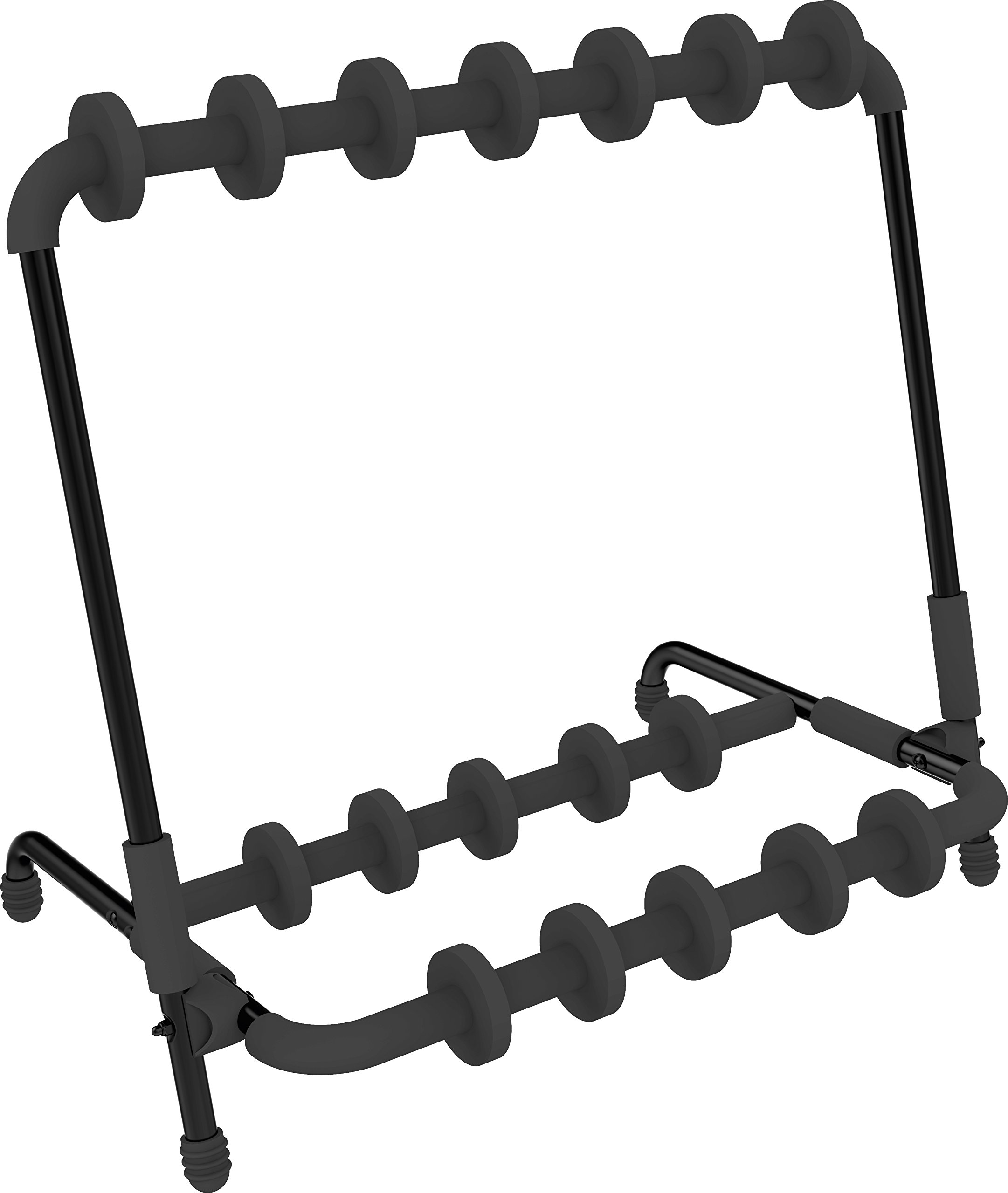 Quick Lok GS350BB Multiple Universal Guitar Stand with Adjustable Instrument Slots
