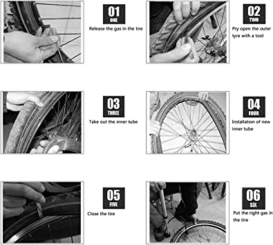 "Replacement Schrader Valve Bike Bicycle Inner Tubes 6 Self-Adhesive Round Patches 1 Metal Rasp Listenman 2 Pack 18/"" x 1.75//1.95//2.125 Bike Inner Tube with Bike Tube Repair Tool Kits 3 Tire Levers"