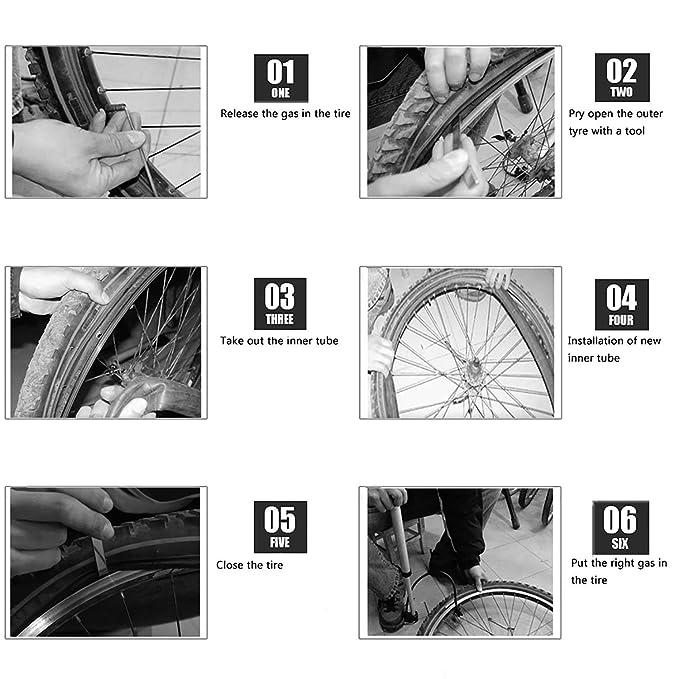 MTB Bicycle Mountain Bike 22 Inner Tube 22 1.75 AV US Nozzle Butyl Rubber