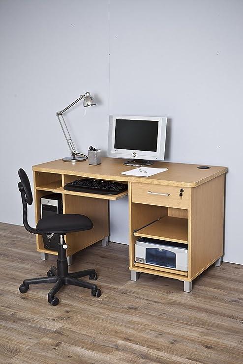 Mesa de Ordenador Barcelona 4035 roble: Amazon.es: Hogar