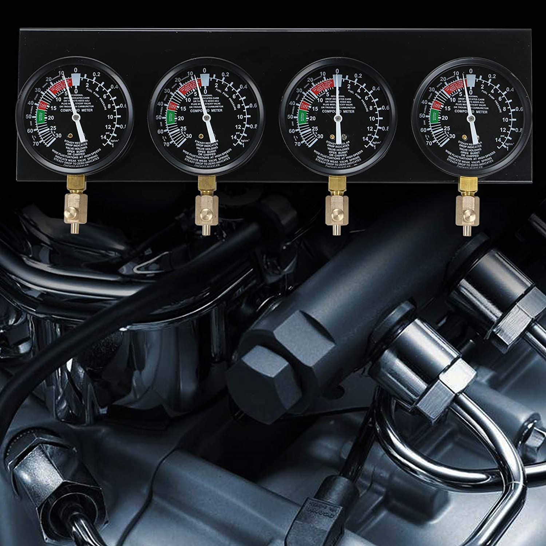 Coldshine Universal Motorcycle Carb 4 Carburetor Fuel Vacuum Synchronizer Gauges Balancer Meter Tool Kit