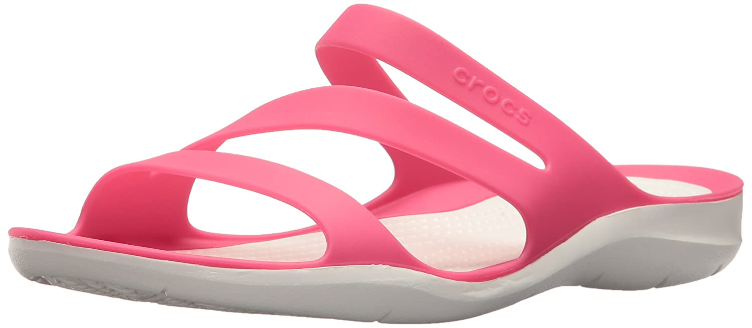 Crocs Women's Swiftwater Sandal B071JFQZJN 11 B(M) US|Paradise Pink/White