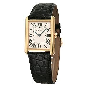 [カルティエ]Cartier 腕時計 タンクソロ レザー イエローゴールド クォーツ メンズ W5200004 メンズ 【並行輸入品】