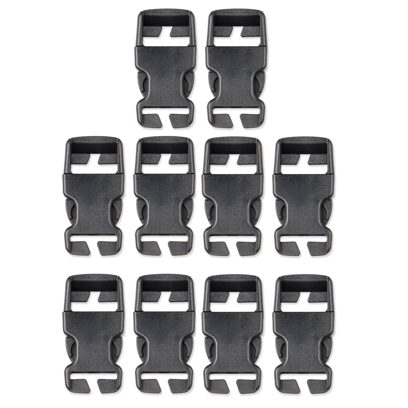Multi-Size Plastic Buckle Repair Kit Quick Release Buckles No Sewing  Required Buckles for Backpack Bag (10pcs Black,25 mm)