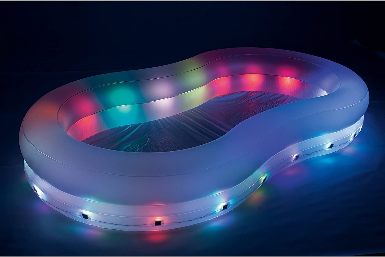 varilando LED de jardín de Pool planschbecken iluminado hinchable ...