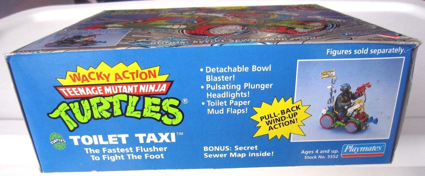 TMNT Teenage Mutant Ninja Turtles 1990 Toilet Taxi Flag Accessory Part