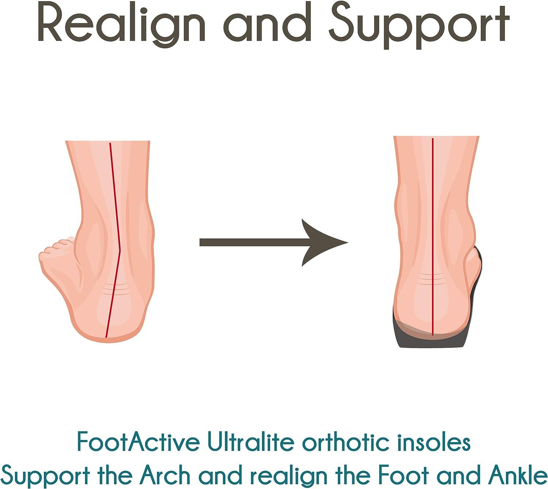 Semelles l/ég/ères pour la course /à pied et le sport FootActive Ultralite Support pour pieds plats Amortissement et soutien parfaits pour toutes les activit/és de plein air
