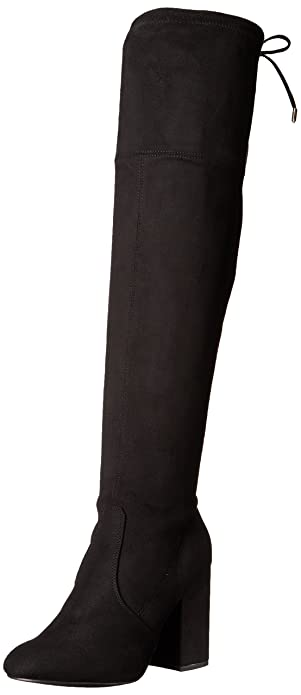 f5111b49048 Steve Madden Women s NIELA Over The Over The Knee Boot Black 10 ...