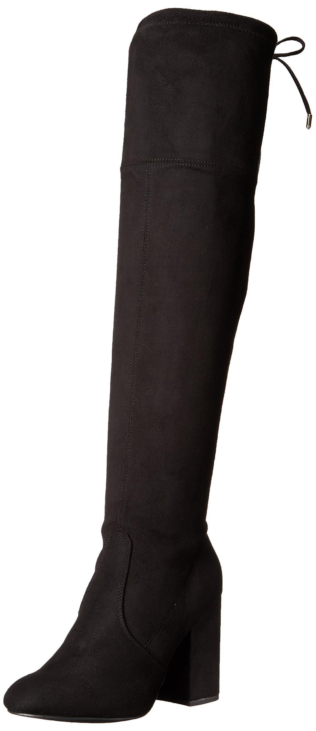 Steve Madden Women's Niela Over The Knee Boot, Black, 10 M US by Steve Madden (Image #1)