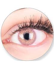 eeec6eb7ce Lentes de contacto Glamlens de color rosa sin graduación, con recipiente  para lentes de contacto