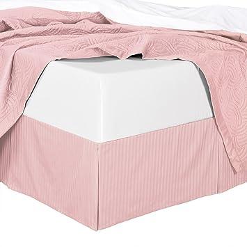 Amazon.com: 300TC Cotton Stripes Blush Twin Extra Long ( Twin XL
