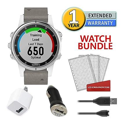 Amazon com: Garmin Fenix 5S Plus Training GPS 42mm - White with