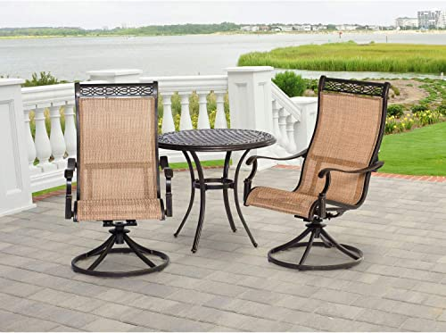 Hanover MANDN3PCSW-BS Manor 3 Piece Bistro Dining Set Outdoor Furniture