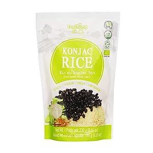 ONETANG Organic Shirataki Konjac Rice, Vegan, Low Calorie Food, Gluten Free, Fat Free, Keto and Paleo Friendly, Low Carbs, Healthy Diet Pasta 8.11 Oz
