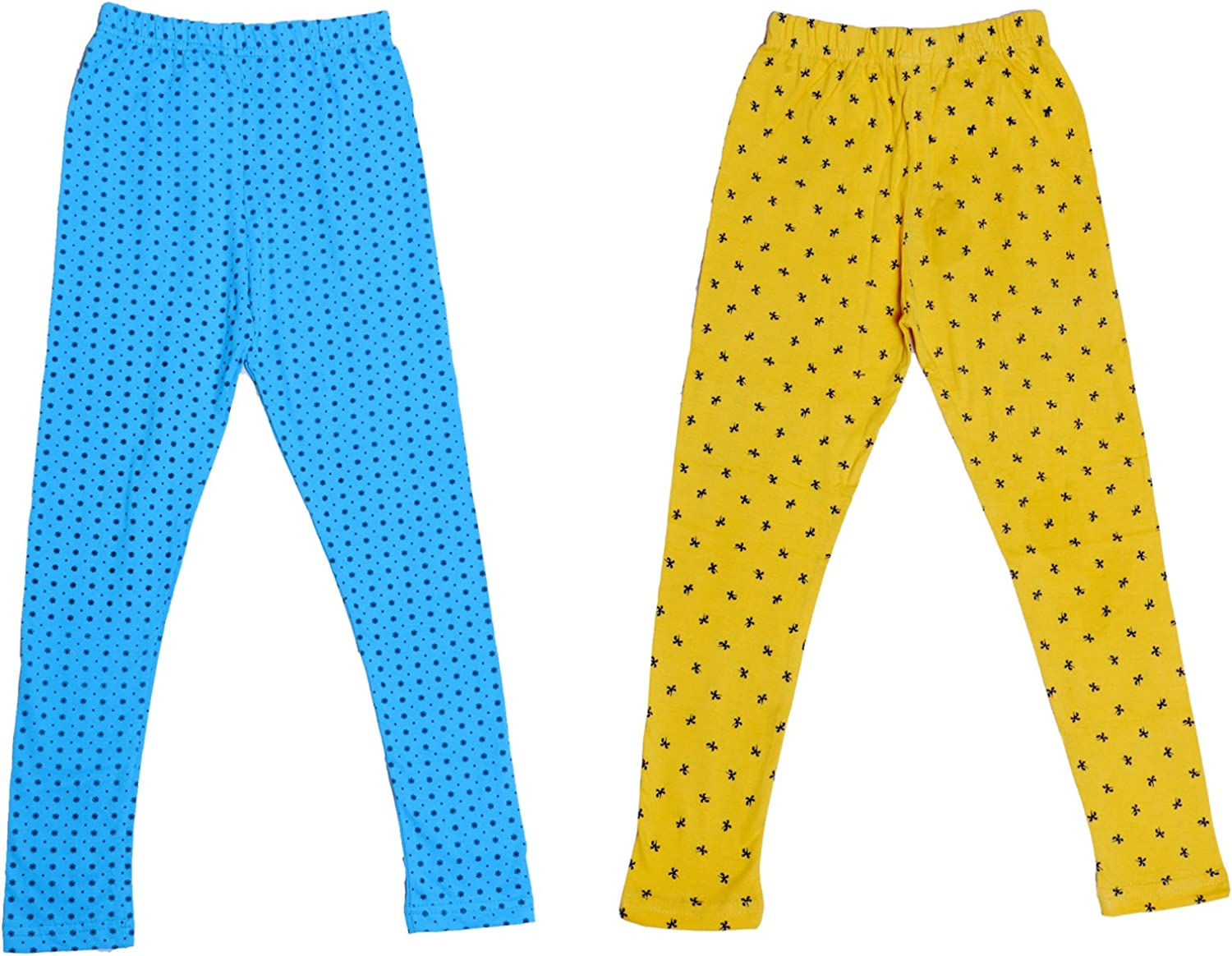 Pack of 3 Indistar Girls Super Soft and Stylish Cotton Printed Legging Pants