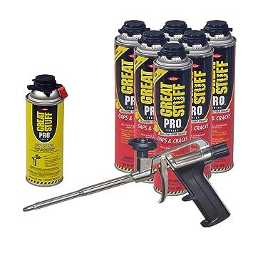 Dow Pro huecos y grietas 24 oz pistola de espuma (6) + Great stuff